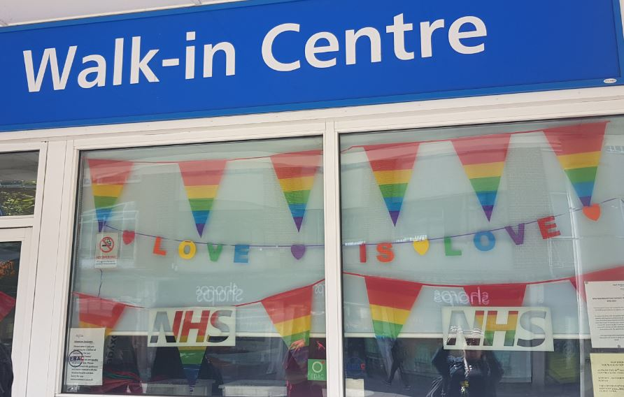 Exeter clinic dressed for pride