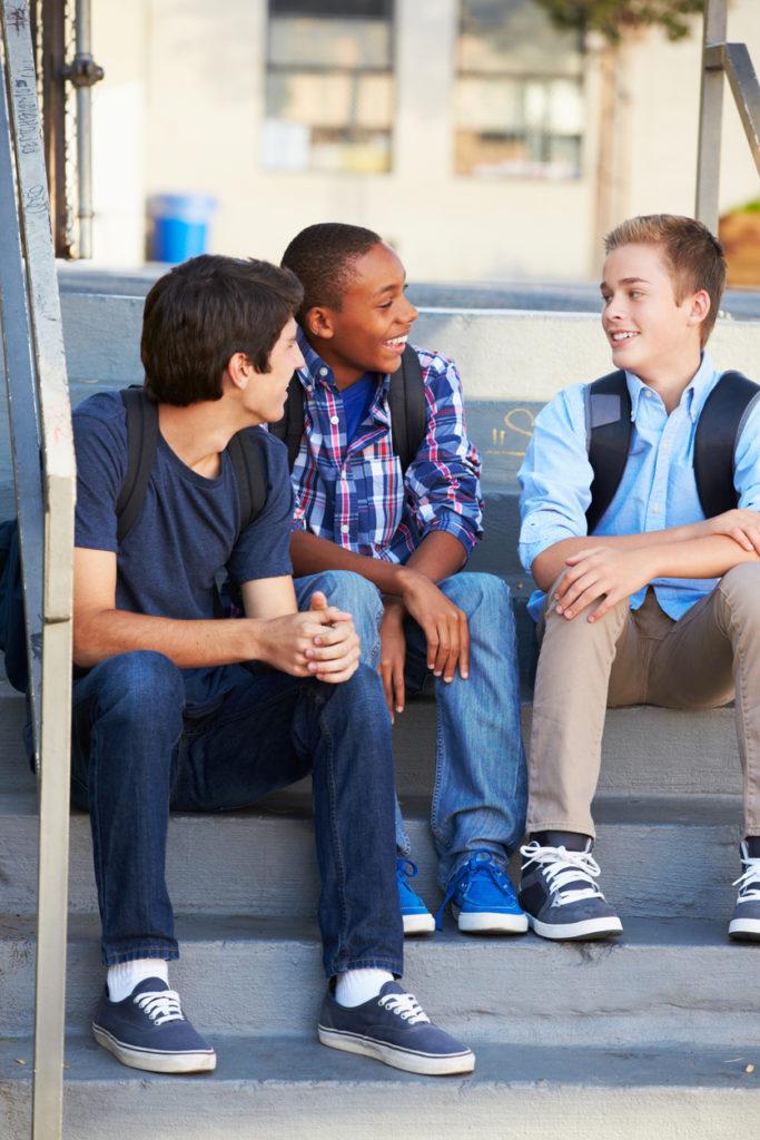 group of teenaged boys