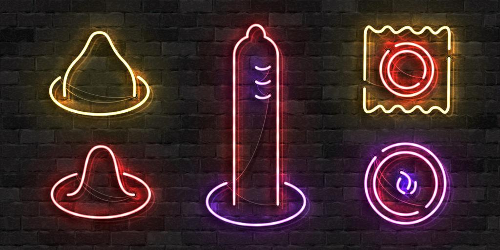 neon condoms